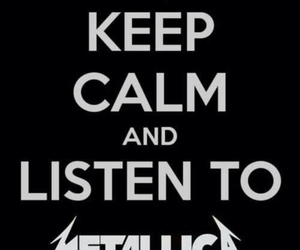 metallica, keep calm, and metal image
