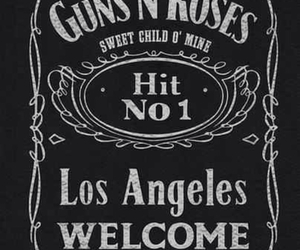 Guns N Roses, jack daniels, and los angeles image