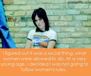 joan jett, quote, and rebel image