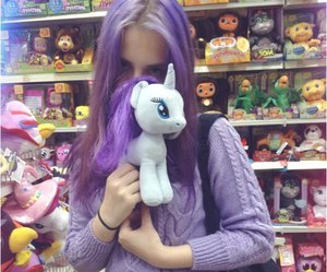 girl, toy, and violet image