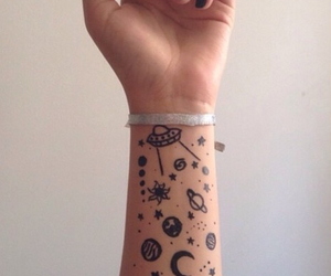 tattoo, grunge, and planet image
