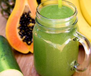 drink, green, and healthy smoothie image