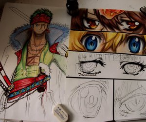art, color, and zoro image