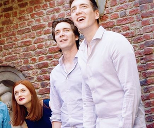 bonnie wright, fred and george, and james phelps image