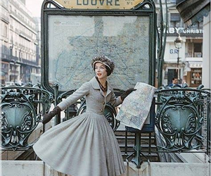 vintage, paris, and louvre image