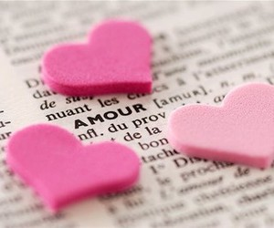 love, pink, and amour image