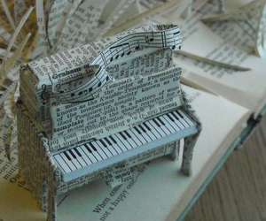 piano, music, and Paper image