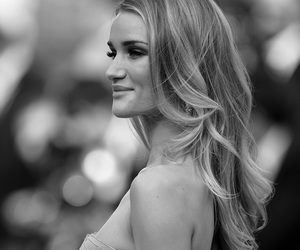 model, rosie huntington-whiteley, and black and white image