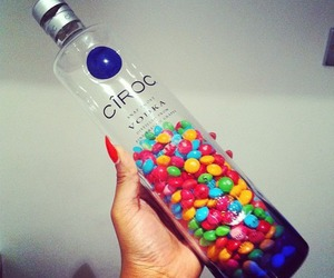 vodka, ciroc, and candy image