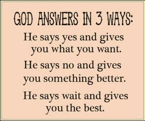 god, answer, and quote image