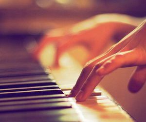 music, piano, and cute image