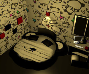 panda, cute, and room image