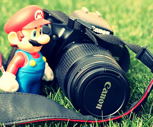 mario, canon, and camera image