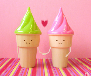 love, ice cream, and cute image
