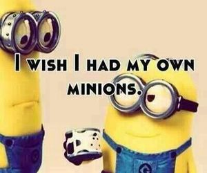 minions, wish, and yellow image