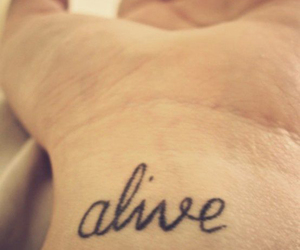 tattoo, alive, and words image