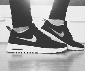blackandwhite, shoes, and airmax image