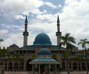 architecture, nature, and masjid image