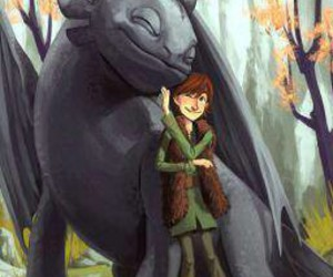 dragon, toothless, and hicuup image