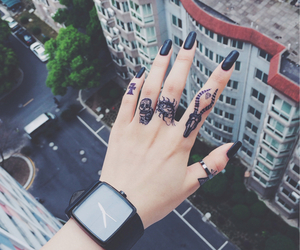 tattoo, black, and nails image
