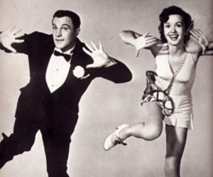 Gene Kelly, black and white, and Debbie Reynolds image