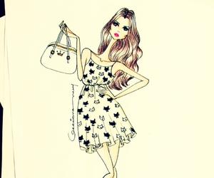 dress, fashion, and fashion illustration image