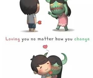 love, couple, and change image