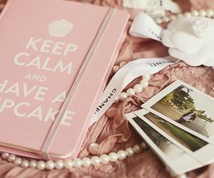 pink, cupcake, and keep calm image