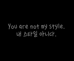 black and white, hangul, and kpop image