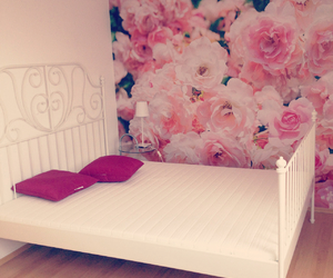 bedroom, flowers, and rose image