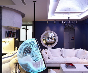 light installation, leisure room, and lounge room image
