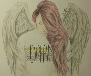 Dream, girl, and wings image