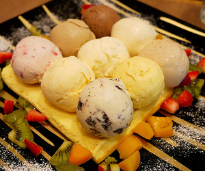 desserts, ice cream, and FRUiTS image