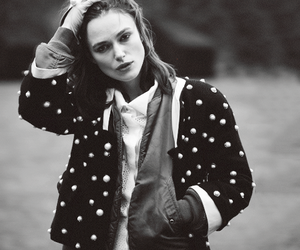 keira knightley, black and white, and beautiful image