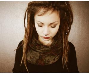 dreadlocks, hair, and girl image