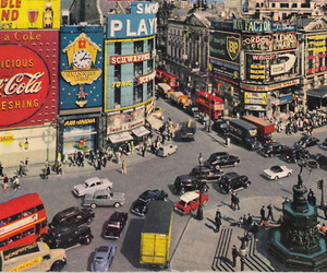 fifties, piccadilly circus, and london image
