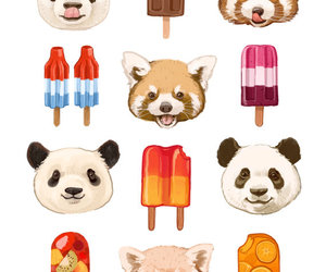 panda, ice cream, and art image