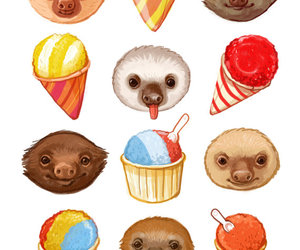 ice cream and sloth image