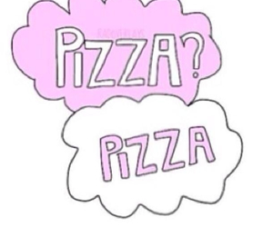 pizza, overlay, and pink image