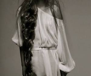 bohemian, model, and white image