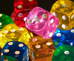 dice, colorful, and blue image