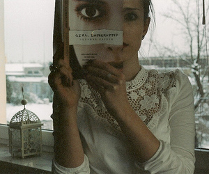 girl, book, and girl interrupted image