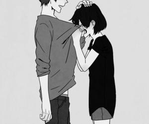 manga, couple, and crying image