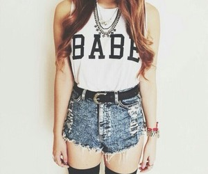 fashion, outfit, and babe image