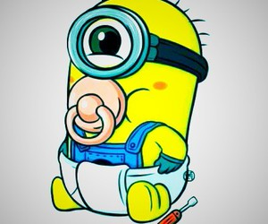 minions and baby image