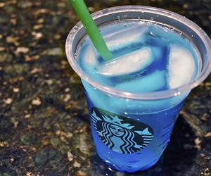 starbucks, blue, and photography image