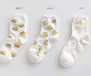 socks, banana, and white image