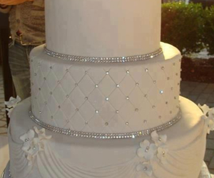 cake, wedding, and white image