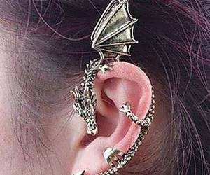dragon, earrings, and cool image