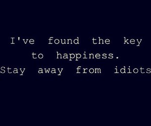 idiot, quotes, and happiness image